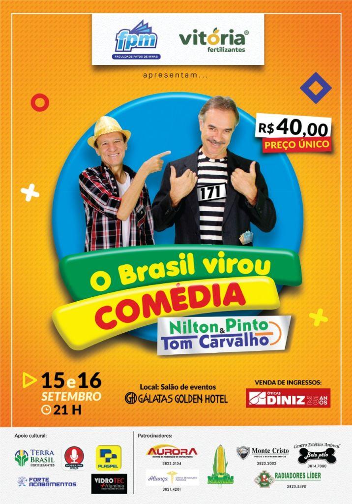 Nilton Pinto e Tom Carvalho em - O brasil virou comédia-