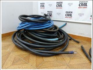 Polícia Civil recupera vários metros de fio de cobre furtados e cinco pessoas vão parar na delegacia | Patos Agora - A notícia no seu tempo - http://www.patosagora.net