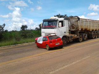 Motorista morre em acidente na MG-190 entre carro e carreta | Patos Agora - A notícia no seu tempo - http://www.patosagora.net