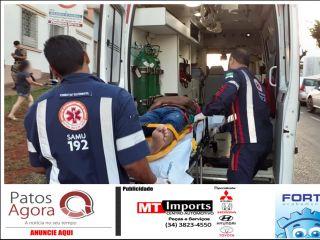 Motorista de picape deixa motociclista ferido e foge sem prestar socorro no Centro de Patos de Minas   Patos Agora - A notícia no seu tempo - http://www.patosagora.net