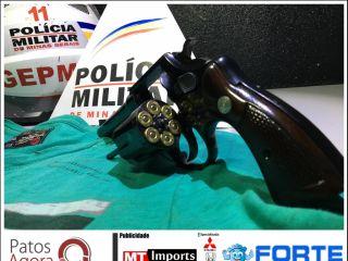 Homem é preso por porte ilegal de arma de fogo no Bairro Céu Azul | Patos Agora - A notícia no seu tempo - http://patosagora.net