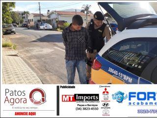 Jovem de João Pinheiro é preso com mochila carregada de maconha   Patos Agora - A notícia no seu tempo - http://patosagora.net