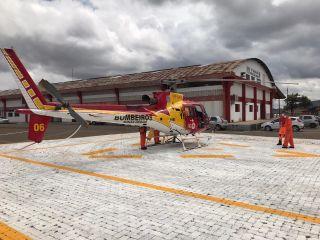 Paciente de Patos de Minas que sofreu infarto é transferido no helicóptero do Corpo de Bombeiros | Patos Agora - A notícia no seu tempo - https://patosagora.net