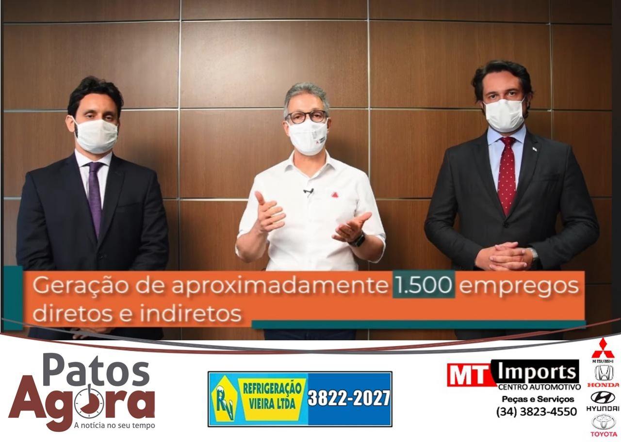 Empresa assina protocolo de intenções de R$ 2,4 bilhões em Patos de Minas e Presidente Olegário