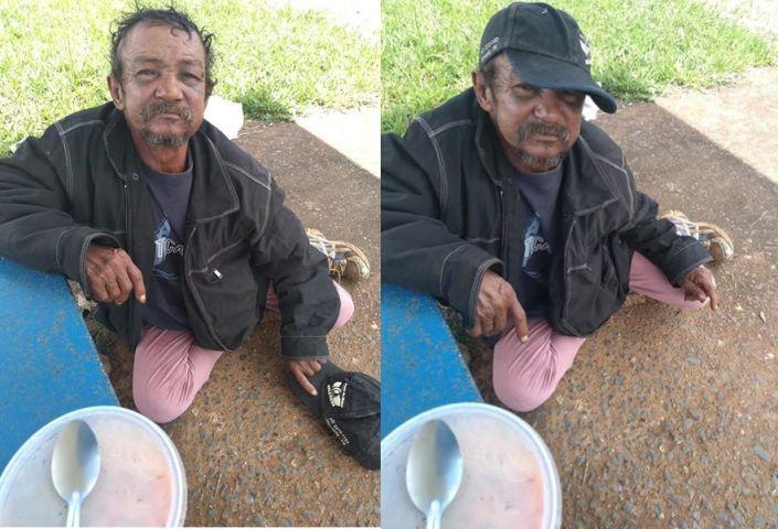 Homem dorme em ponto de ônibus e pede ajuda para encontrar o filho