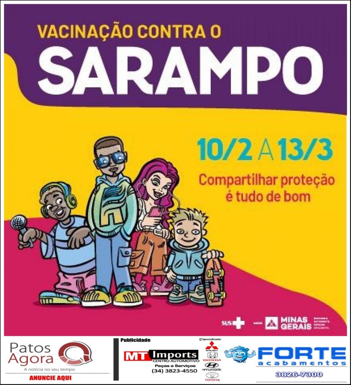 Dia D de vacinação contra o sarampo acontece nesse sábado