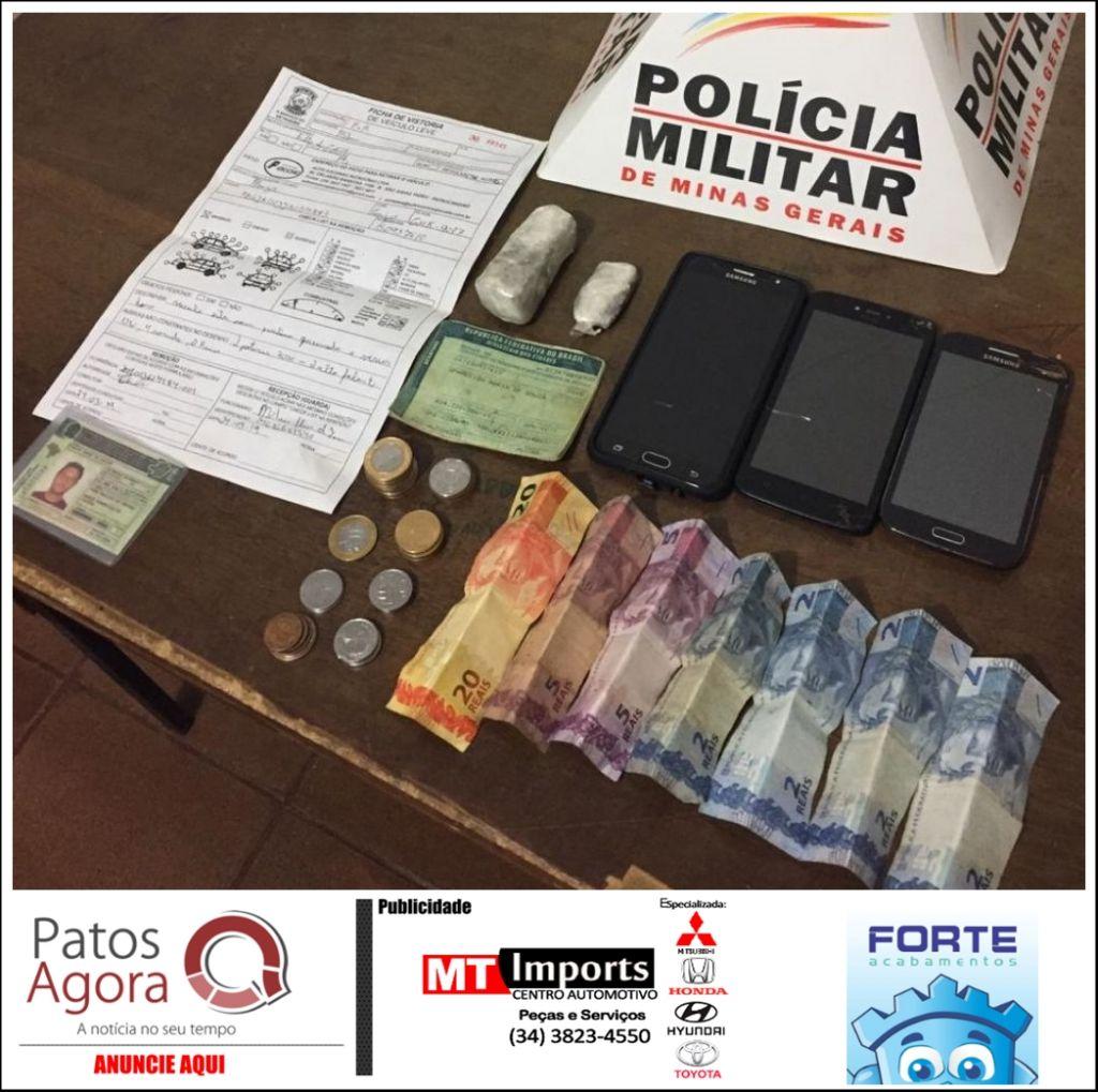Três homens foram parar na delegacia por suspeita de tráfico de drogas