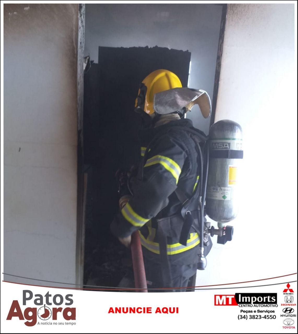 Vazamento de gás causa incêndio em empresa localizada na Rua Major Jerônimo