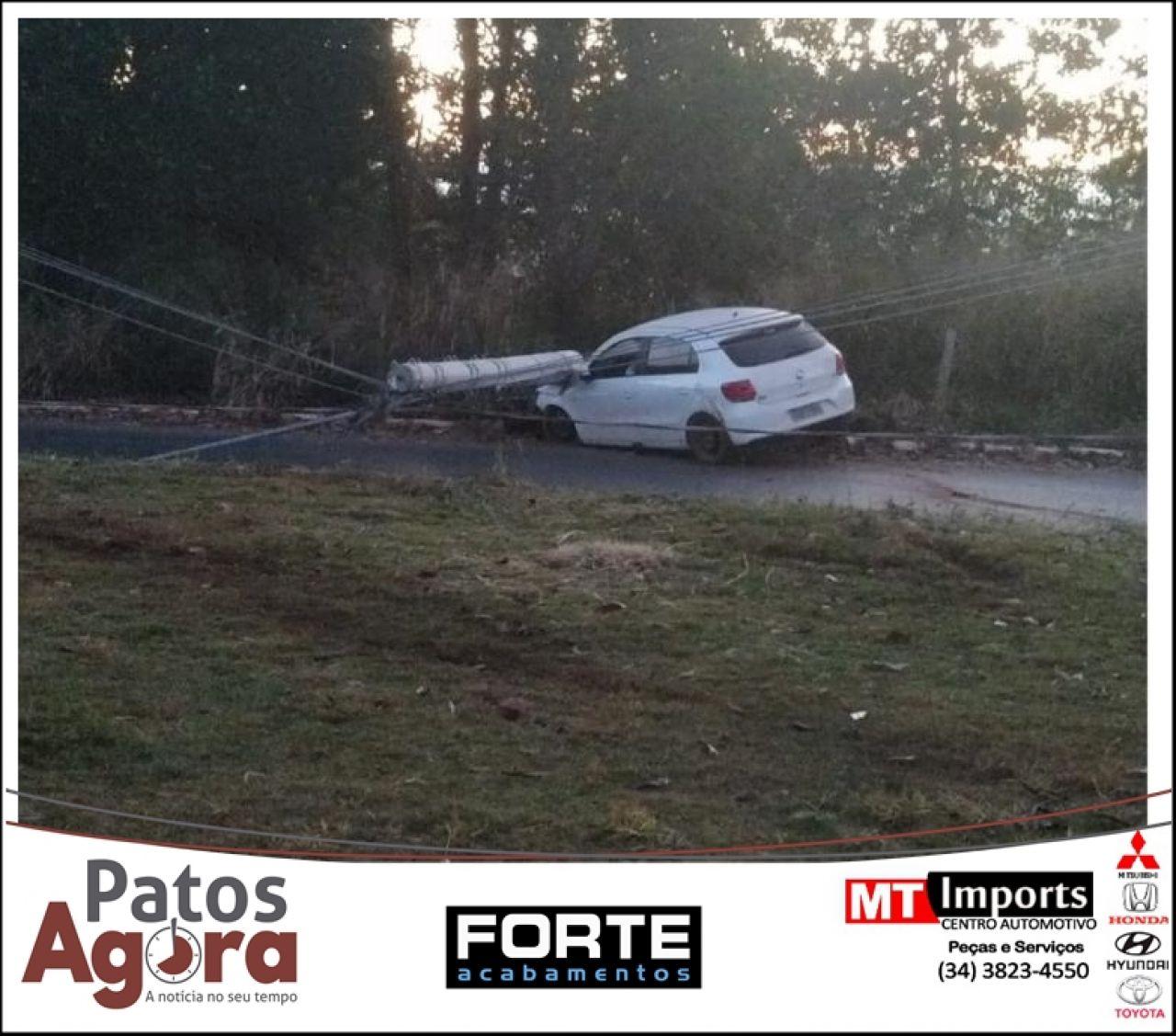 Dois acidentes são registrados na rotatória da Estrada da Baixadinha