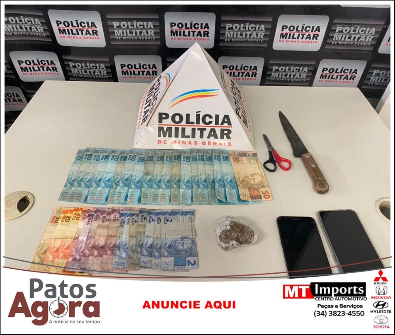 Polícia Militar prende autores de tráfico e suspeito de prática de roubo em data anterior