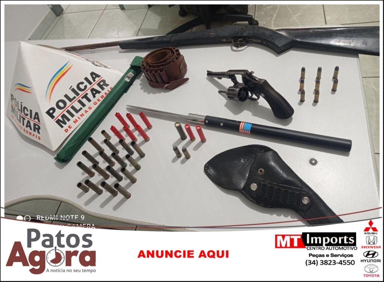 Polícia Militar prende três pessoas por posse irregular de arma de fogo e munições