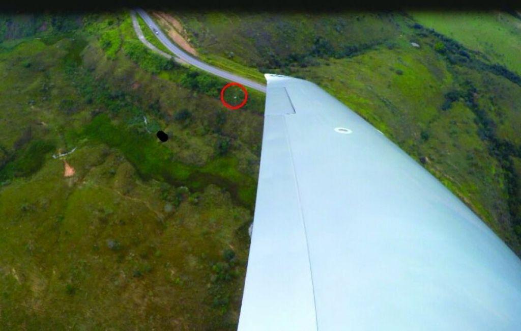 Confirmado: Equipe aérea de Patos de Minas localiza picape de mestre de obras na BR-262
