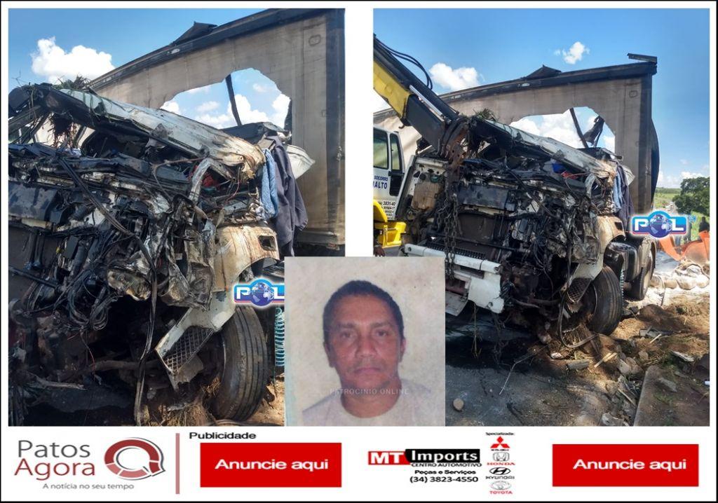 Motorista que morreu após caminhão tombar tentou desviar para não atingir picape