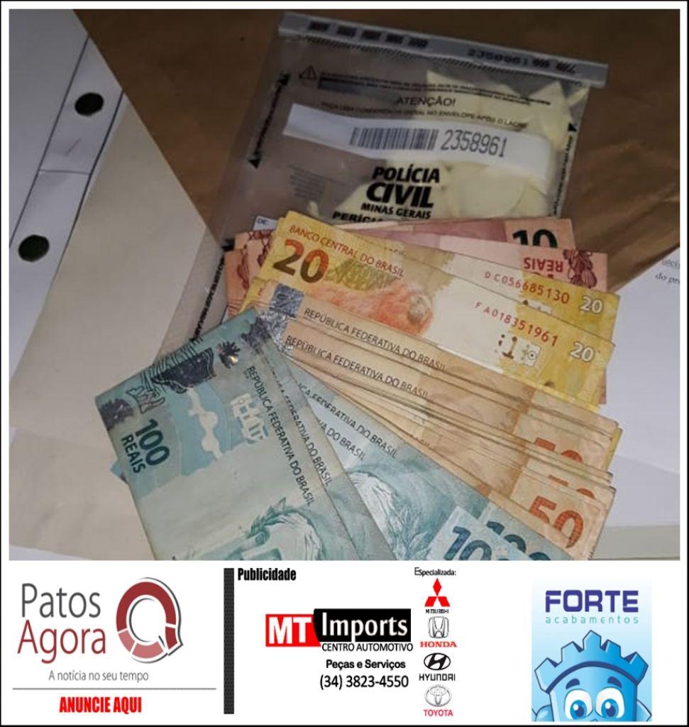 PC de Patrocínio prende foragido da Justiça de Patos de Minas e apreende grande quantidade de dinheiro e cocaína