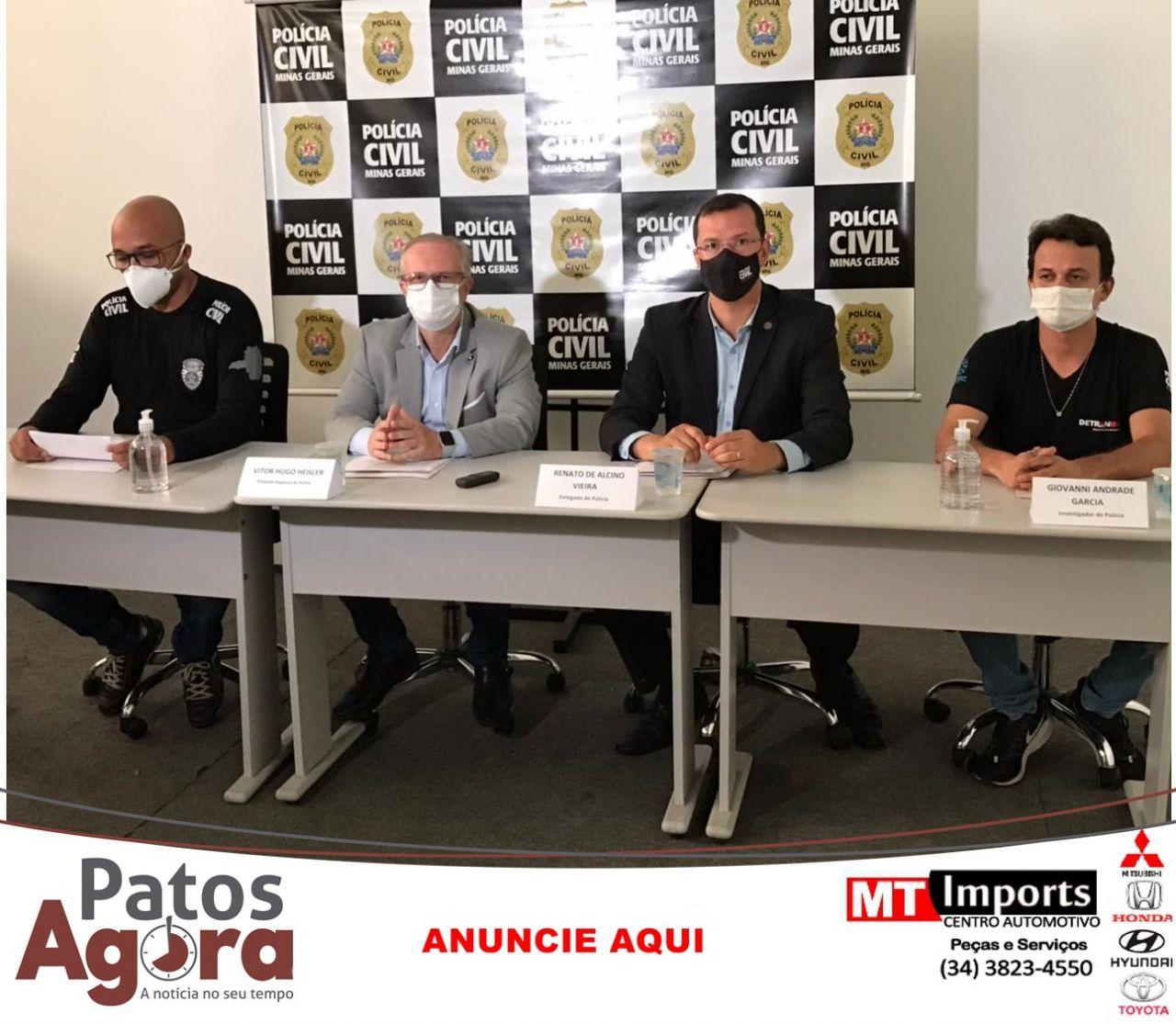 PCMG prende suspeito de cometer homicídio triplamente qualificado