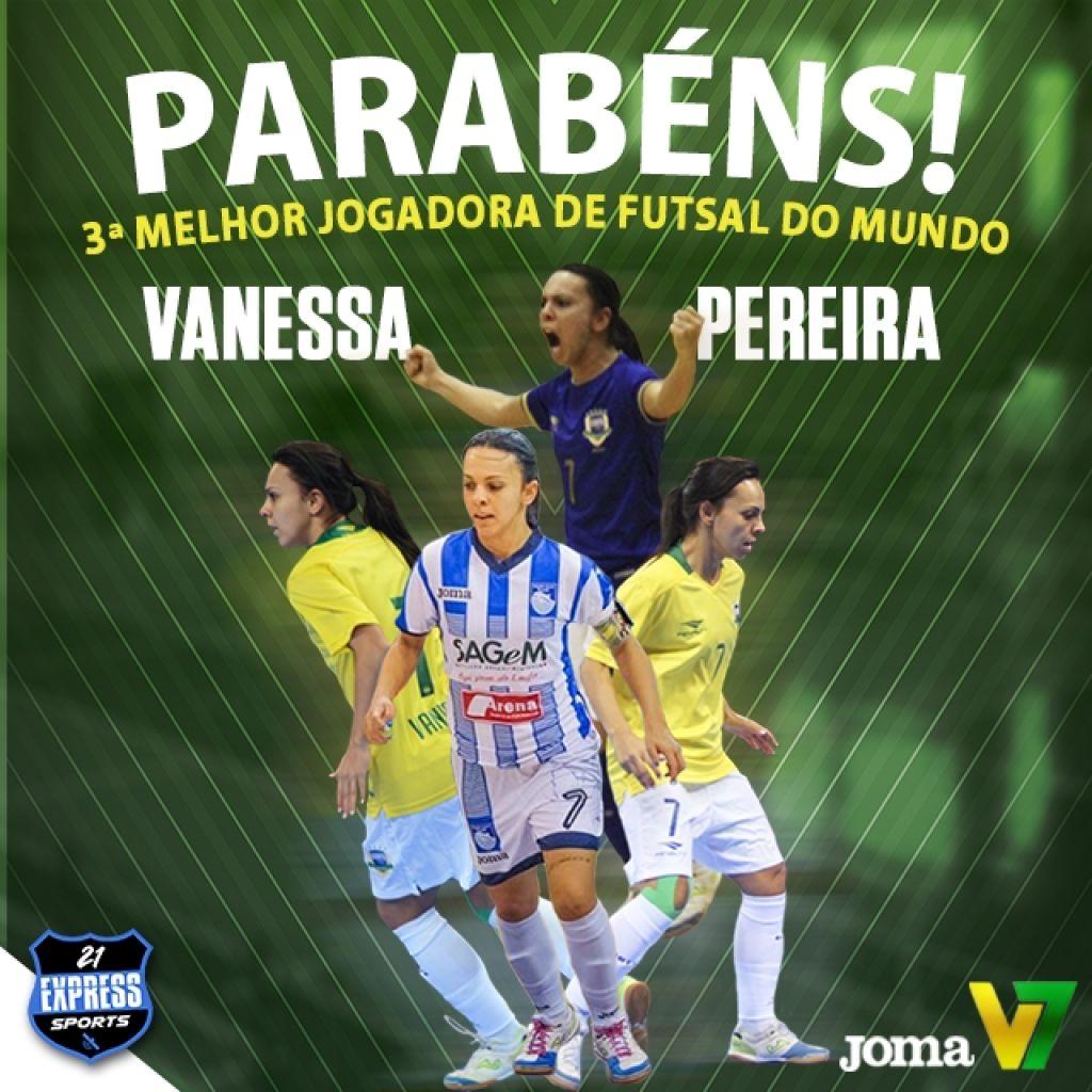 b0e2379ecf Patense Vanessa Pereira é eleita a terceira melhor jogadora de futsal do  mundo
