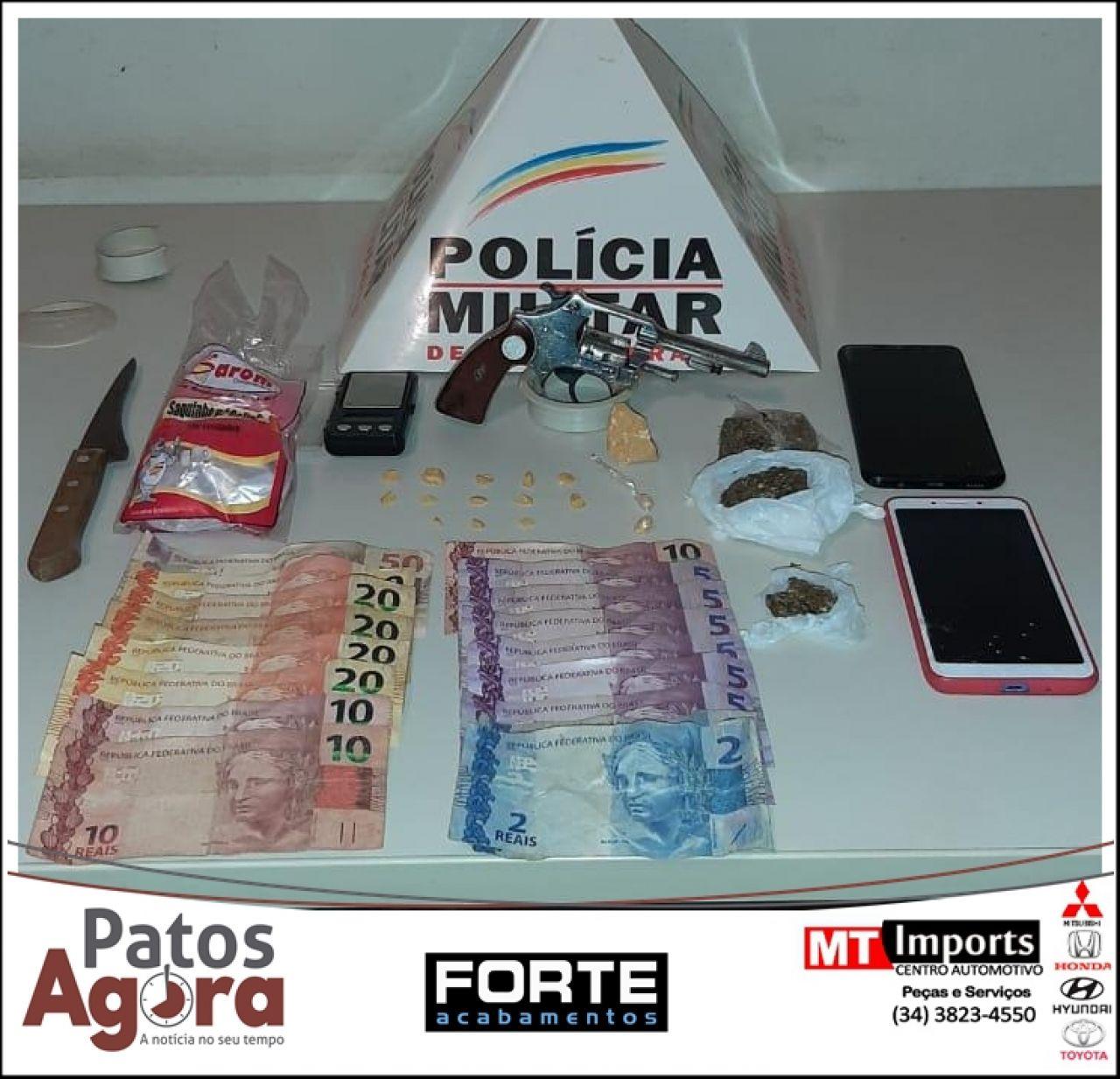 Casal é preso suspeito de tráfico de drogas em condomínio em Patrocínio