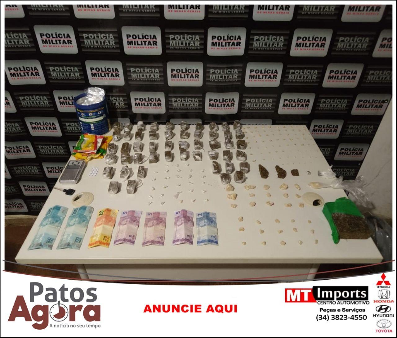 Policia Militar prende mulher por tráfico de drogas