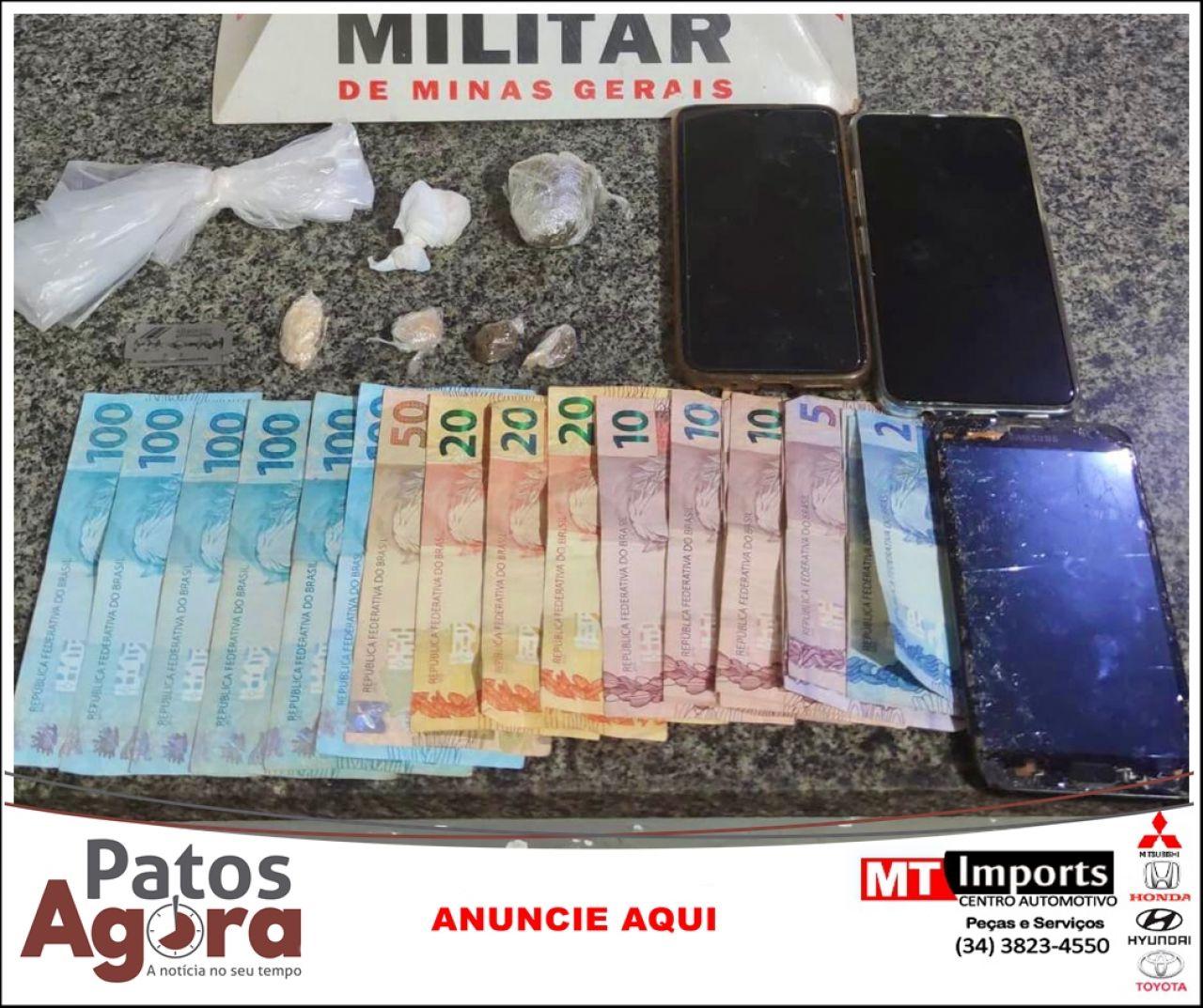 Casal é detido por tráfico de drogas pela PM de Monte Carmelo