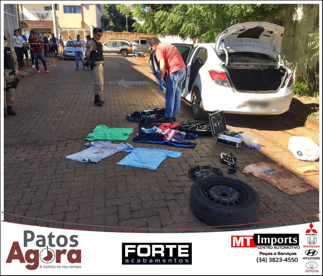 PM localiza, com marcas de sangue, carro do motorista de aplicativo desaparecido; 5 pessoas foram detidas
