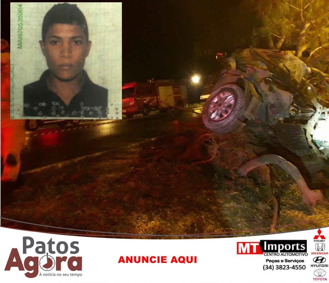Motorista morre e passageiro fica ferido em grave acidente em São Gotardo