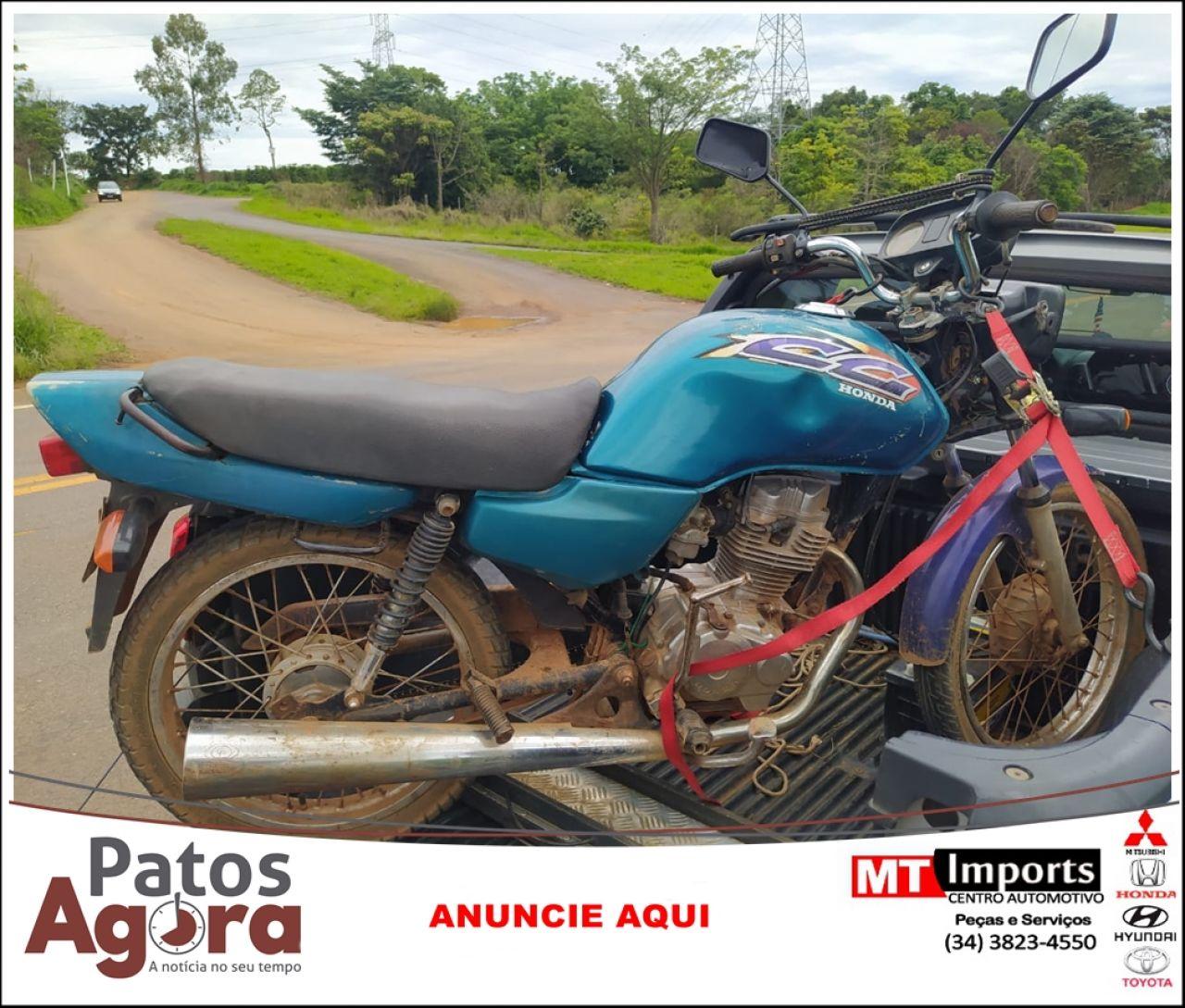 PMRv apreende motocicleta com chassi raspado na rodovia MG 235