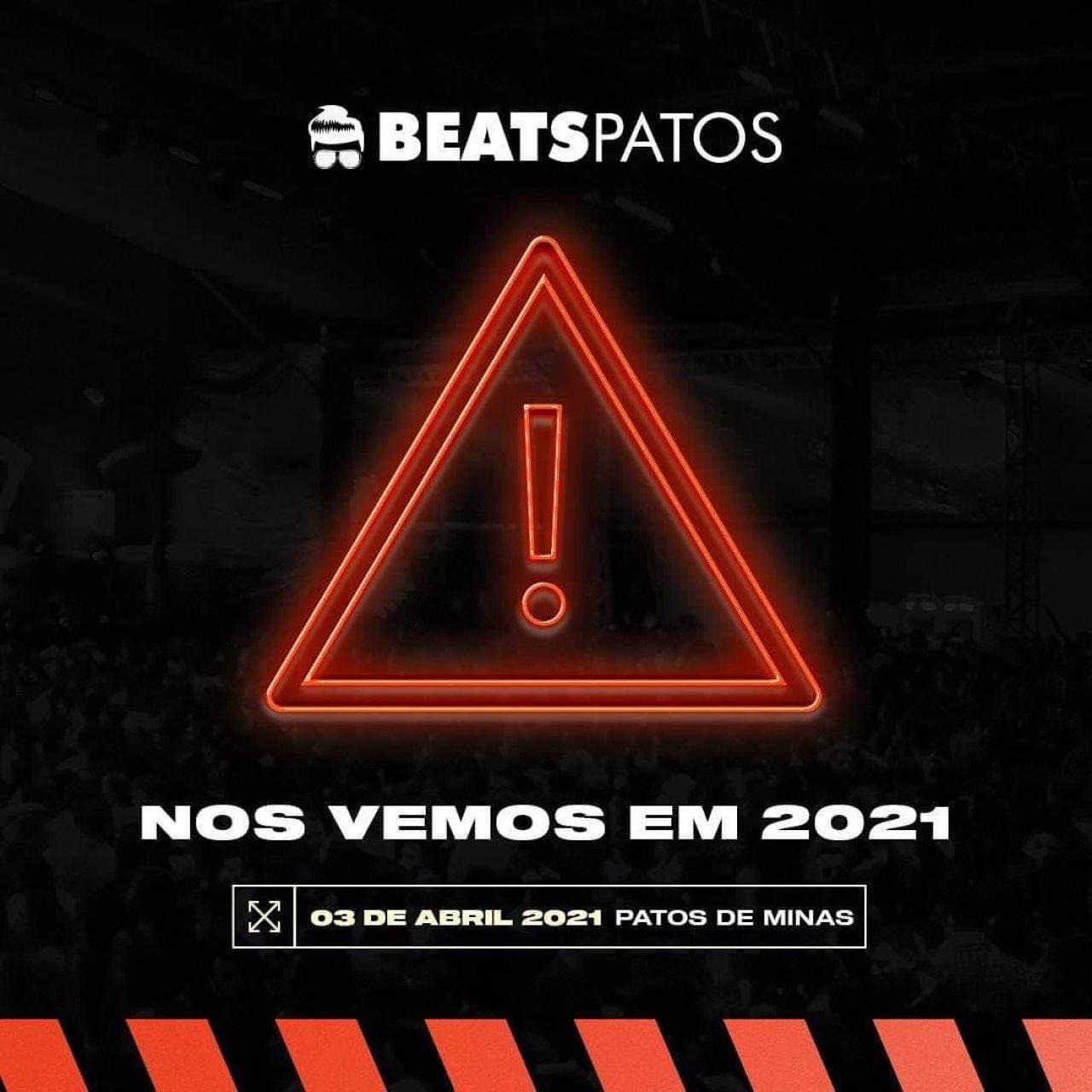 Beats Patos cancela evento de 2020 e adia para 2021
