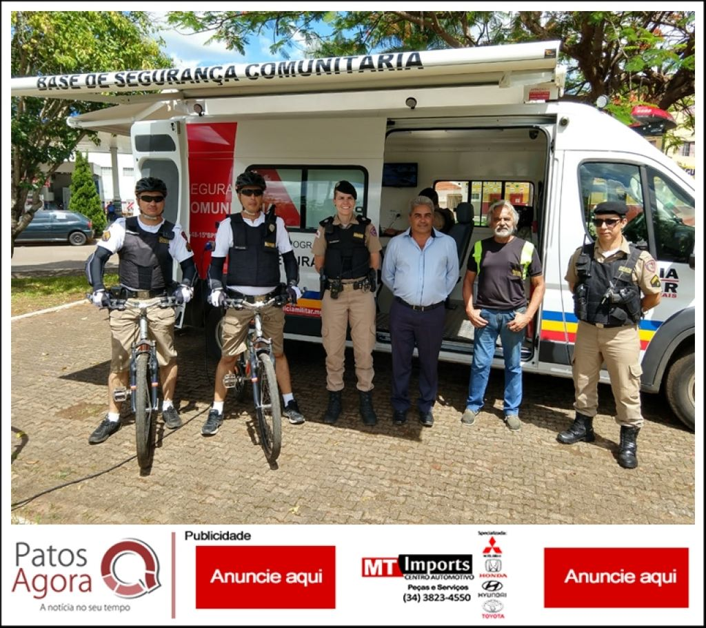 PM instala base móvel  e ciclopatrulha na orla da Lagoa Grande