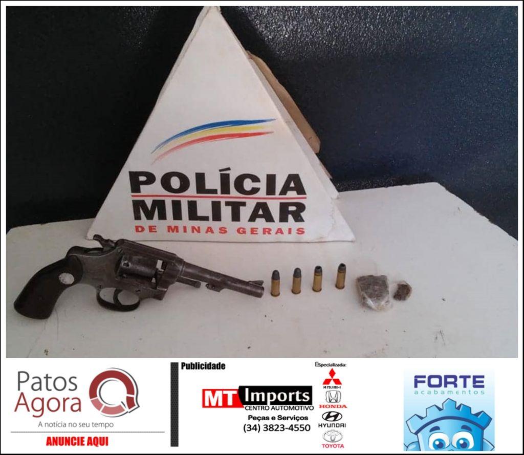 PM flagra indivíduos descendo de carro no Bairro Jardim Esperança e acaba localizando arma de fogo