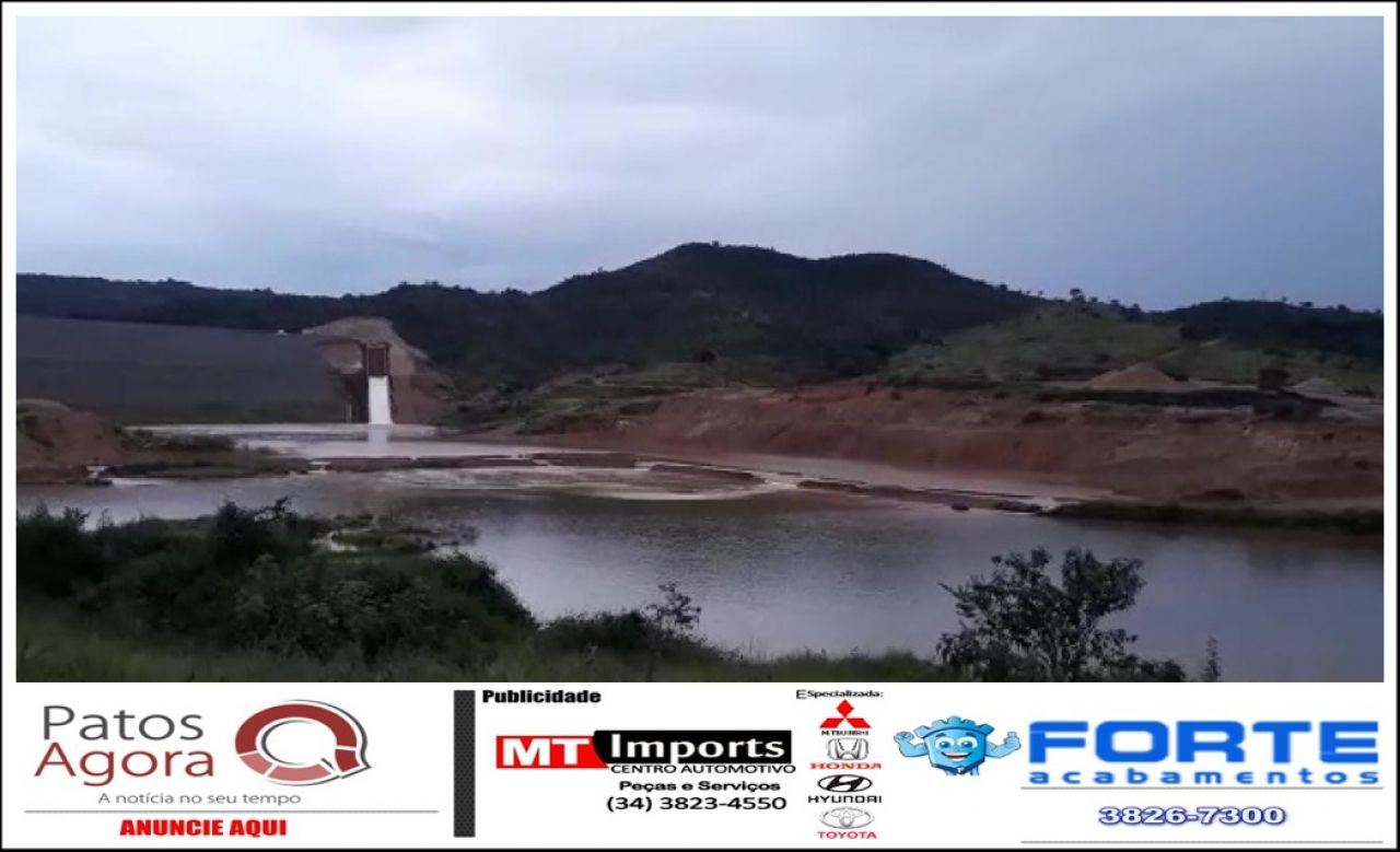 Barragem de Mineradora extravasa e interdita estrada em Serra do Salitre