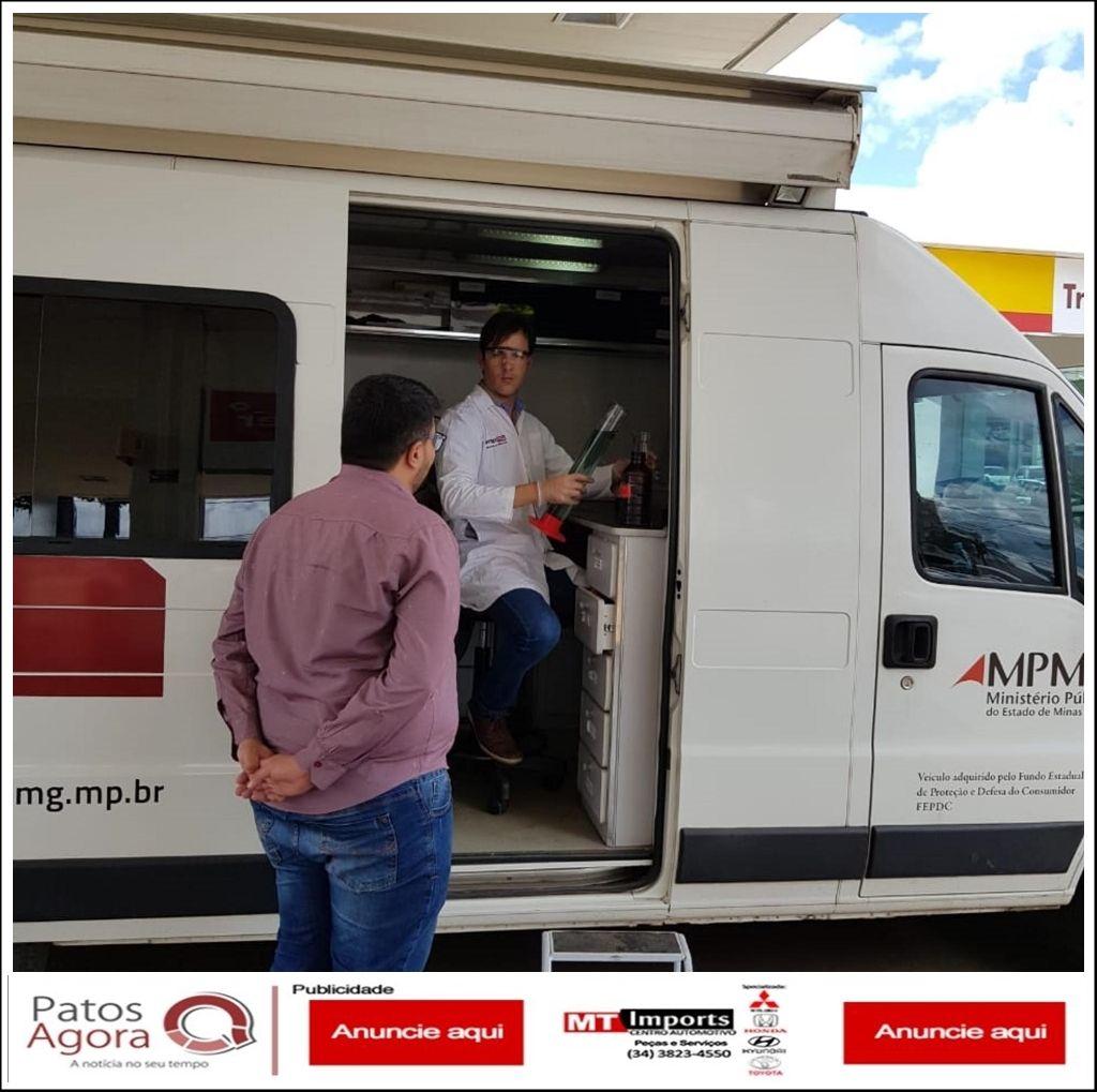 Após denúncia do Procon Municipal, fiscais do Estado chegam a Patos de Minas para verificar qualidade dos combustíveis