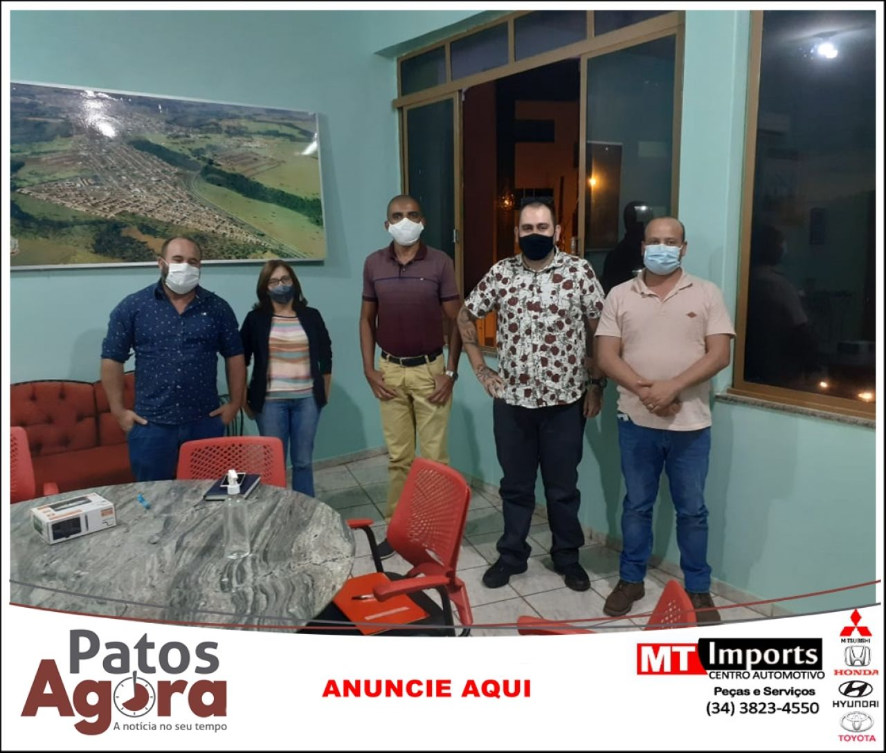 Prefeitura de Presidente Olegário se encontra com agentes culturais para falar sobre novo sítio arqueológico