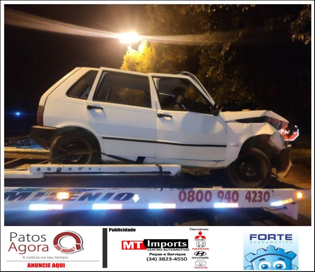 Menor pega carro escondido do pai e acaba se envolvendo em acidente na Av. JK
