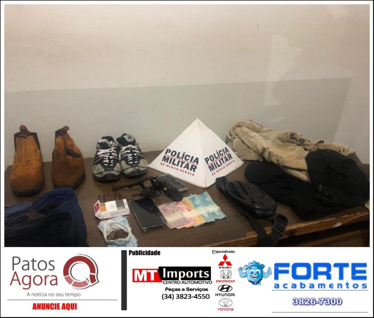 PM de Patrocínio prende quadrilha envolvida em vários roubos e menor infrator acaba baleado