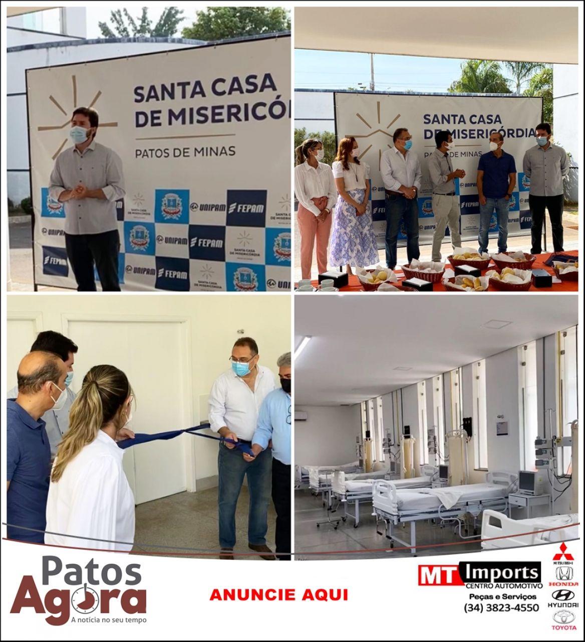 Santa Casa de Misericórdia de Patos de Minas inaugura mais 30 leitos de UTI geral