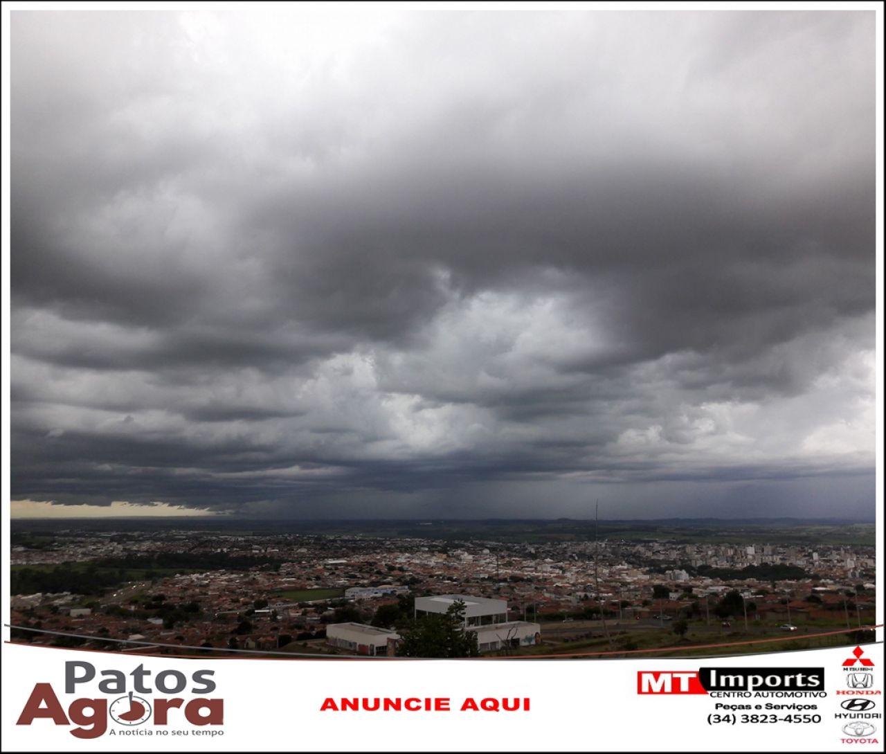 Inmet emite alerta para chuvas intensas para Patos de Minas e região