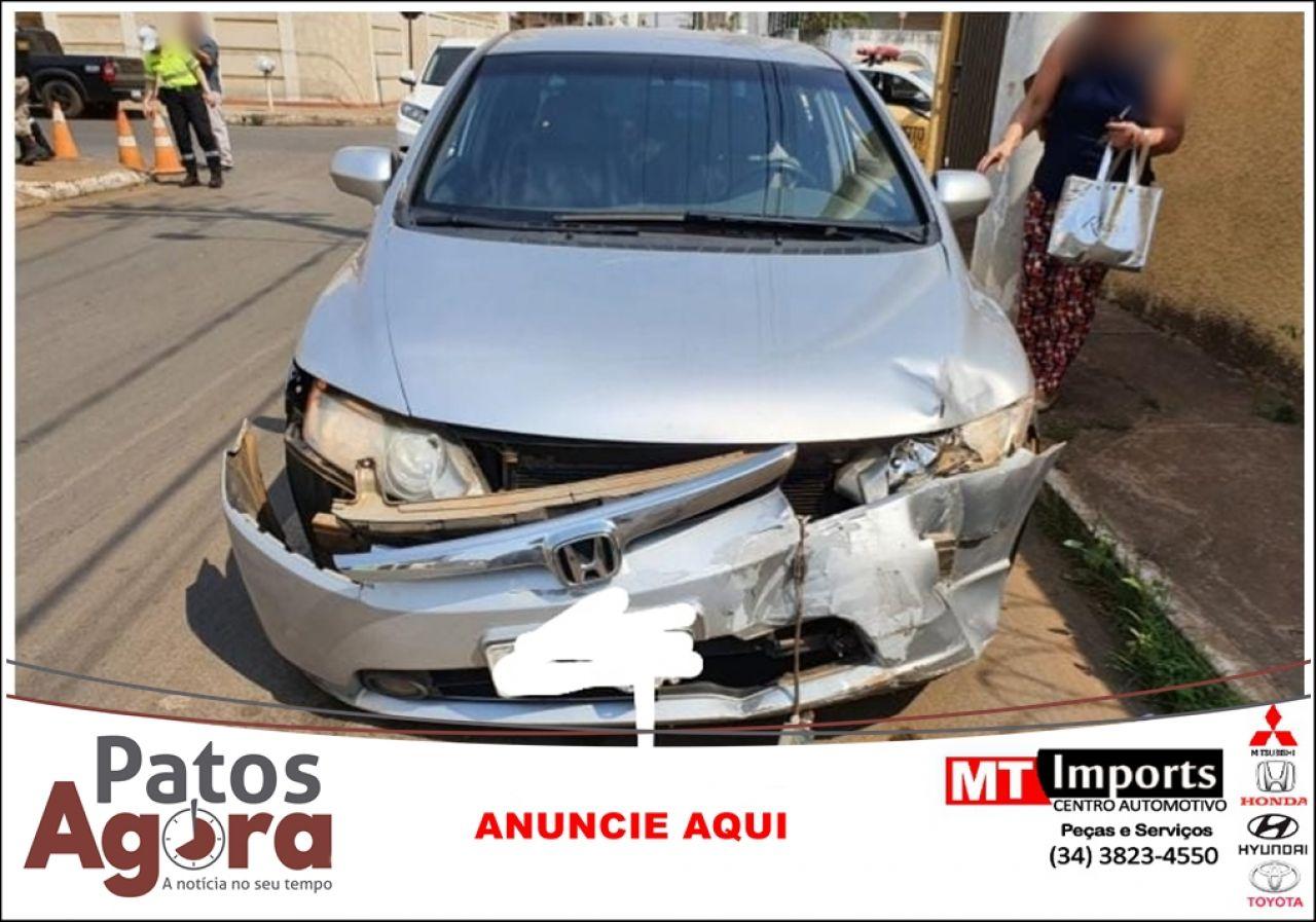 Mototaxista fica ferido em acidente no Bairro Lagoa Grande