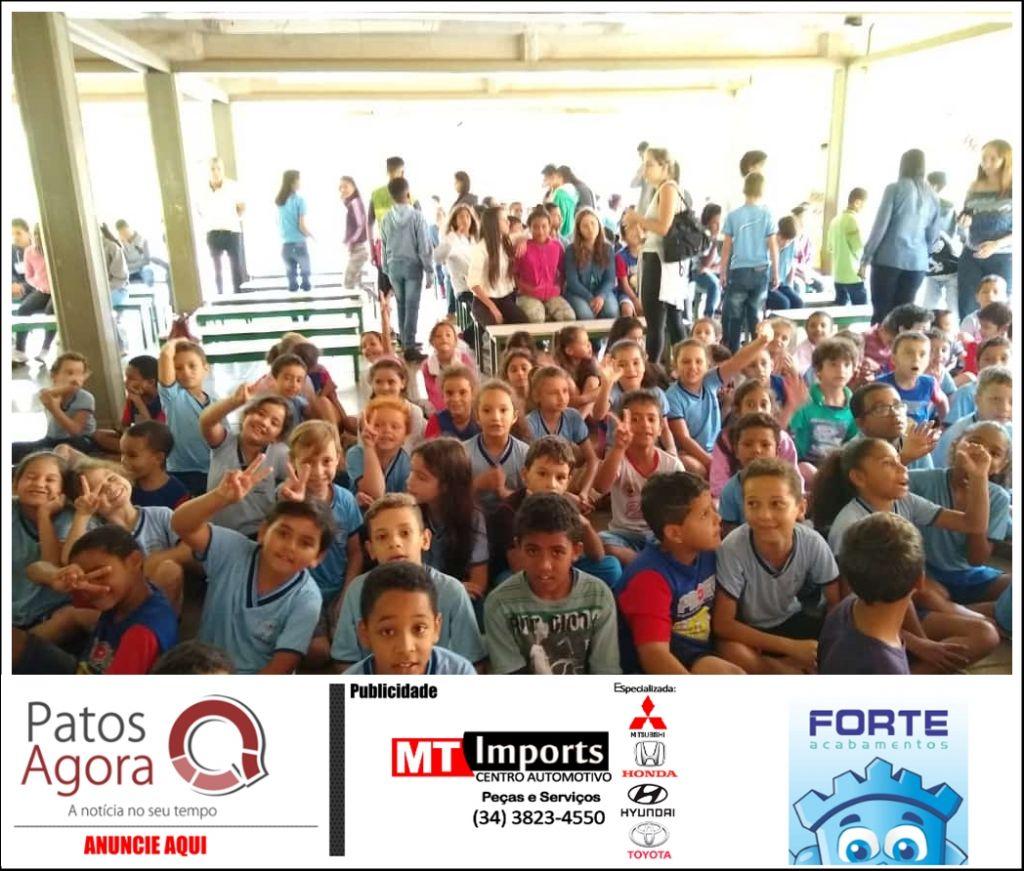 Projeto Samuzinho é lançado no Colégio Municipal Prof. Aristides Memória - CAIC