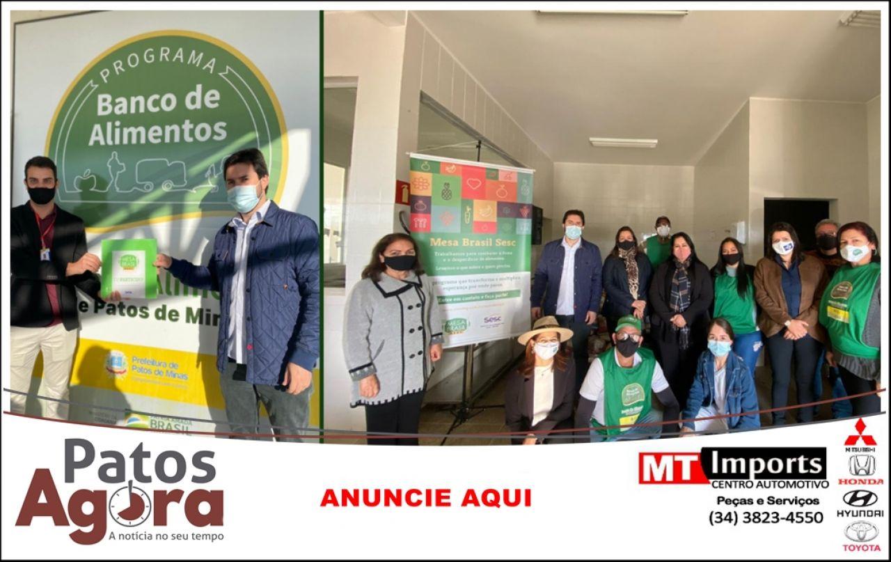 Banco de Alimentos assina convênio com o Programa Mesa Brasil