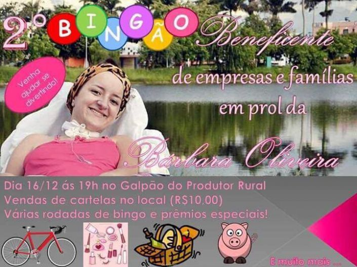 Bárbara convida população para Bingo beneficente