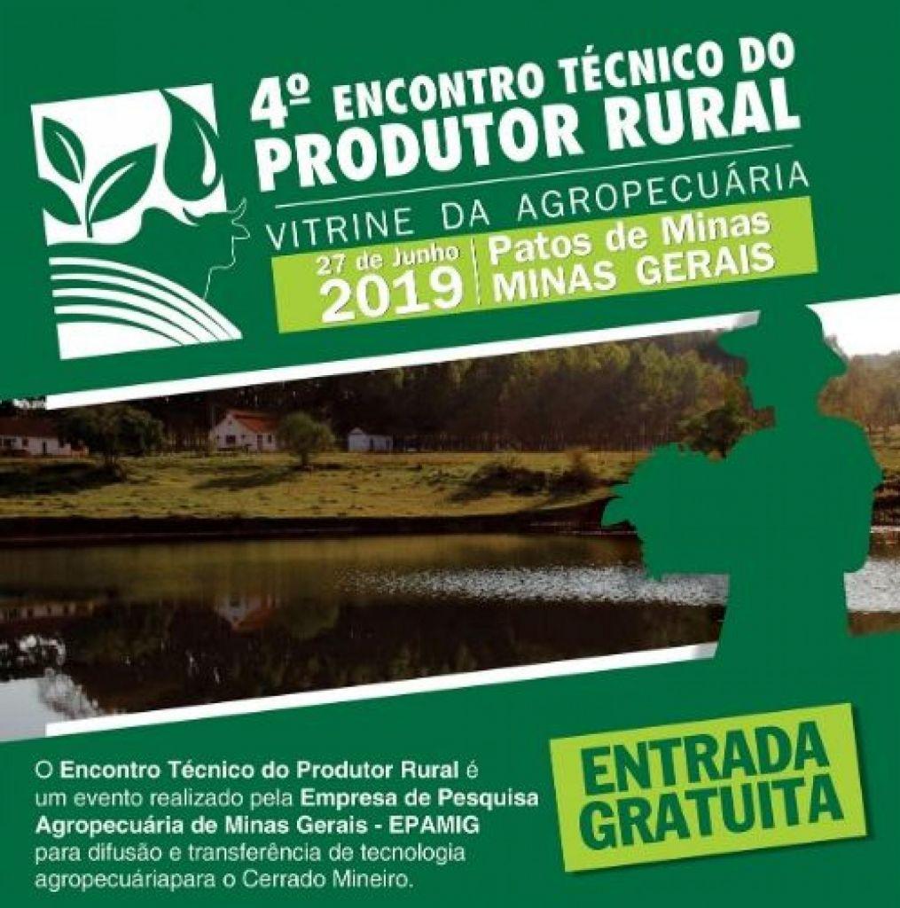 4° Encontro Técnico do Produtor Rural será realizado nessa quinta-feira
