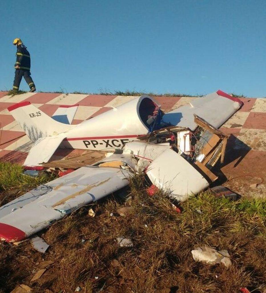 Piloto de 72 anos sobrevive à queda de avião em Minas Gerais