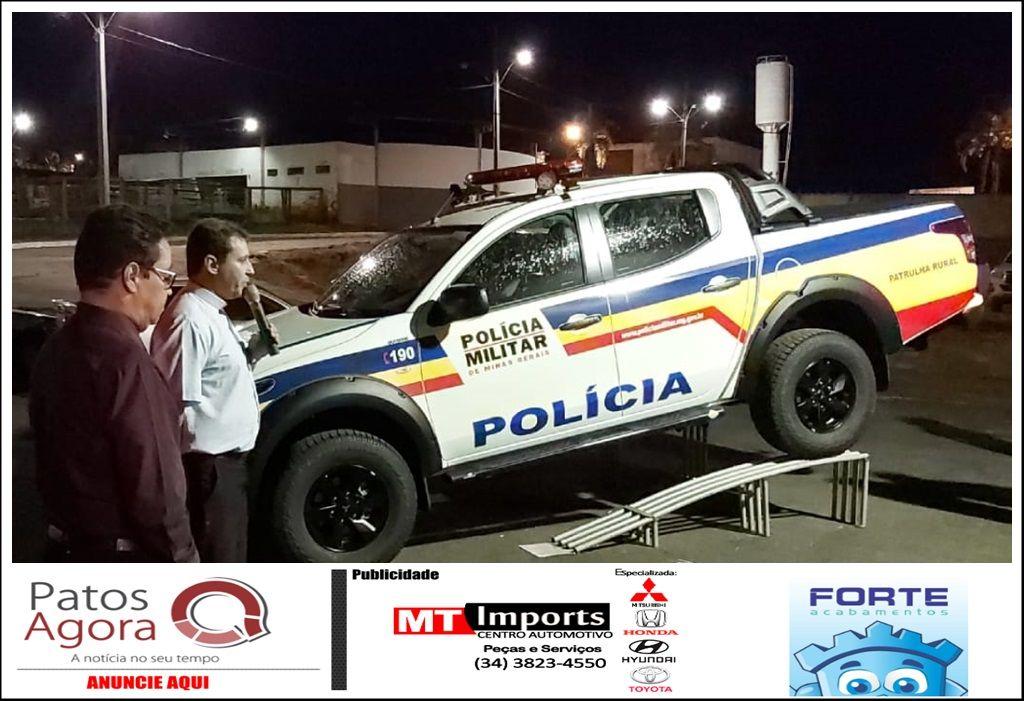 Município de Tiros (MG) recebe nova viatura policial