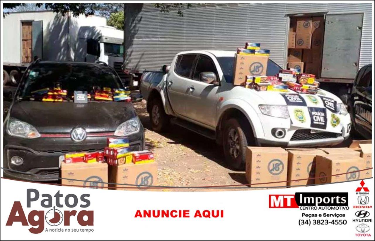 Carga de cigarros avaliada em R$ 5 milhões roubada em Patos de Minas é recuperada pela Polícia Civil