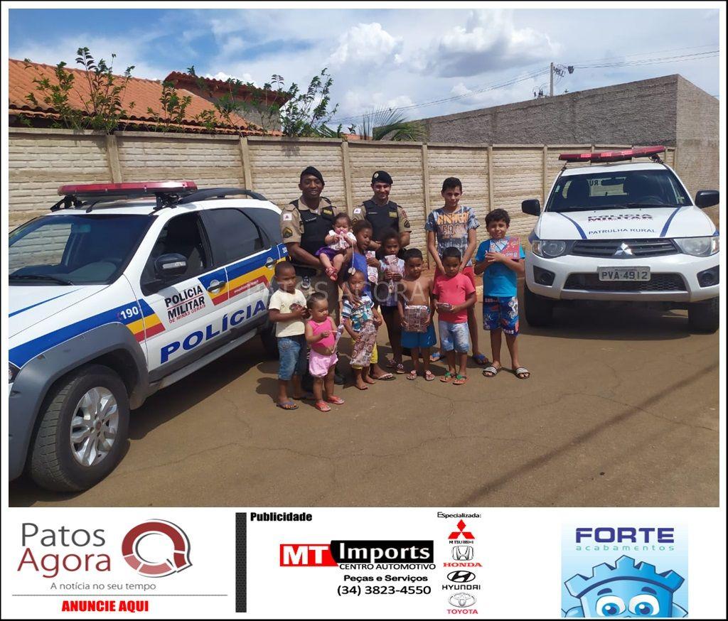 PM de Lagoa Grande realiza ações preventivas no Dia das Crianças