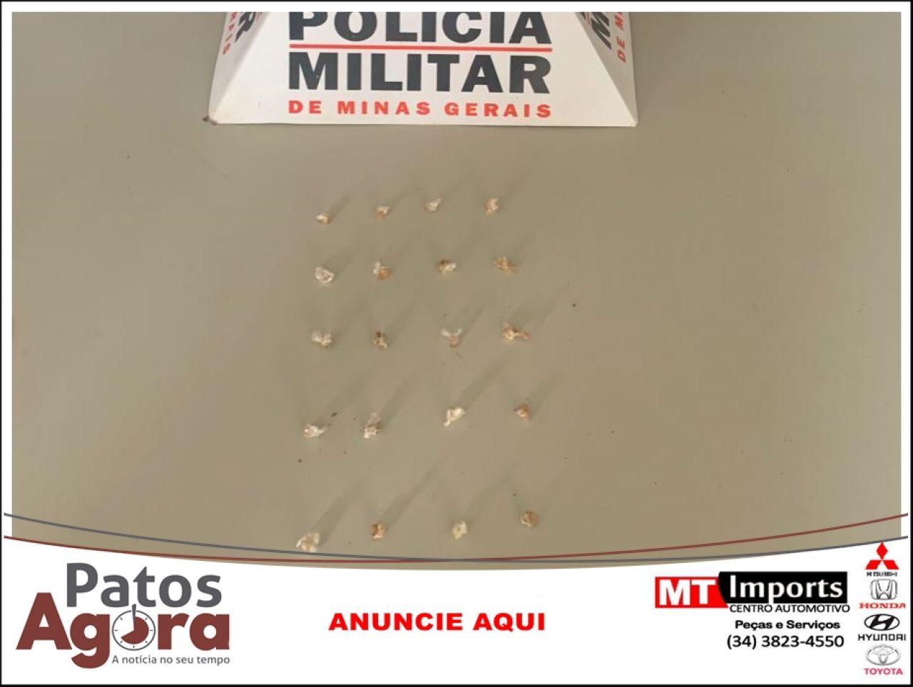 Menor infrator é detido com 20 pedras de crack em Patrocínio