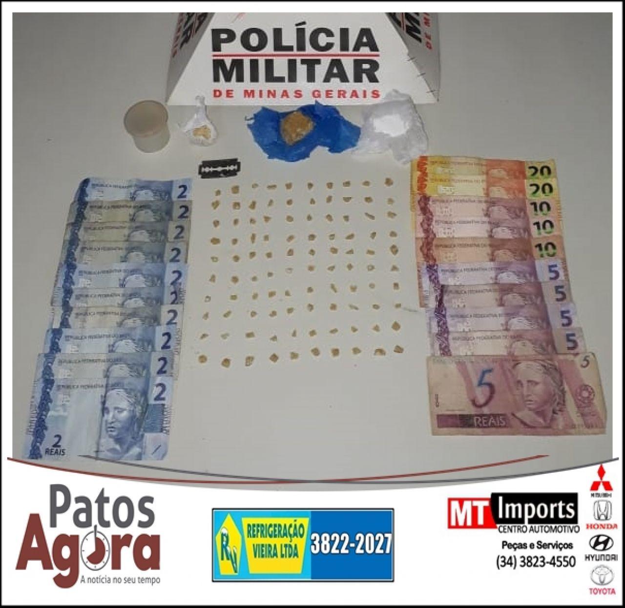 Polícia Militar apreende menor infrator por tráfico de drogas com porções de cocaína