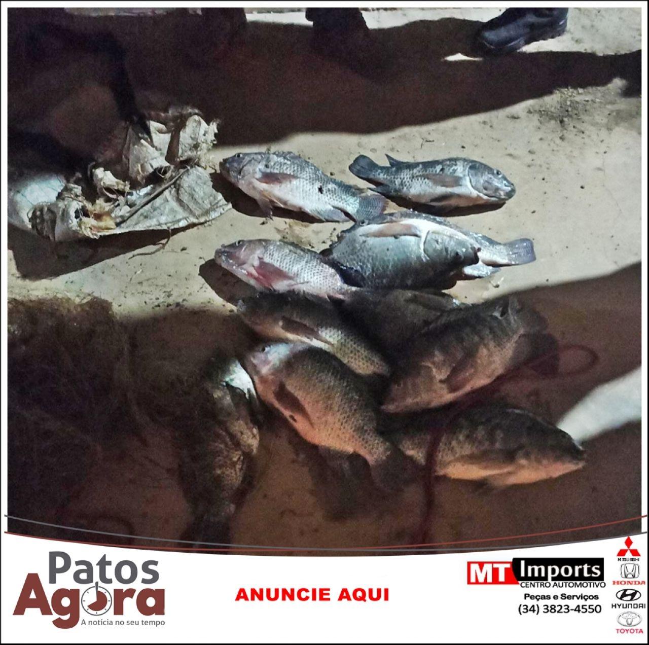 PM prende dois homens suspeitos de furtar 30 kg de peixes em criadouro