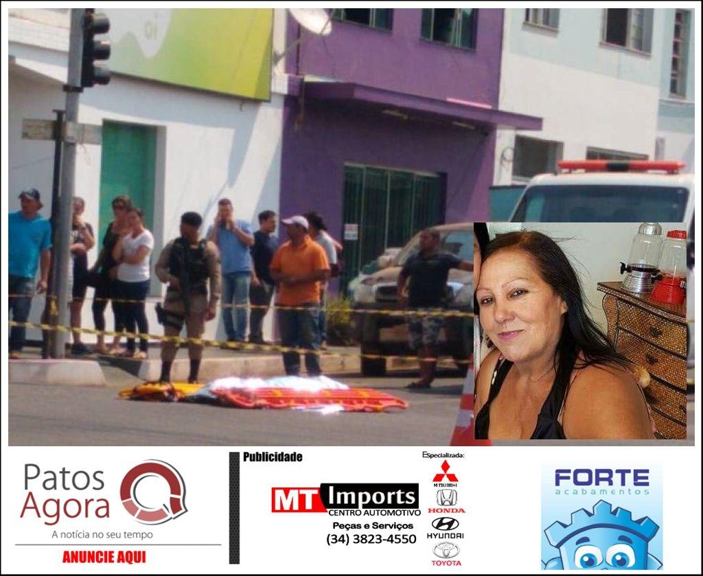 Idosa morre ao ser atropela por caminhão e motorista foge do local, em Monte Carmelo