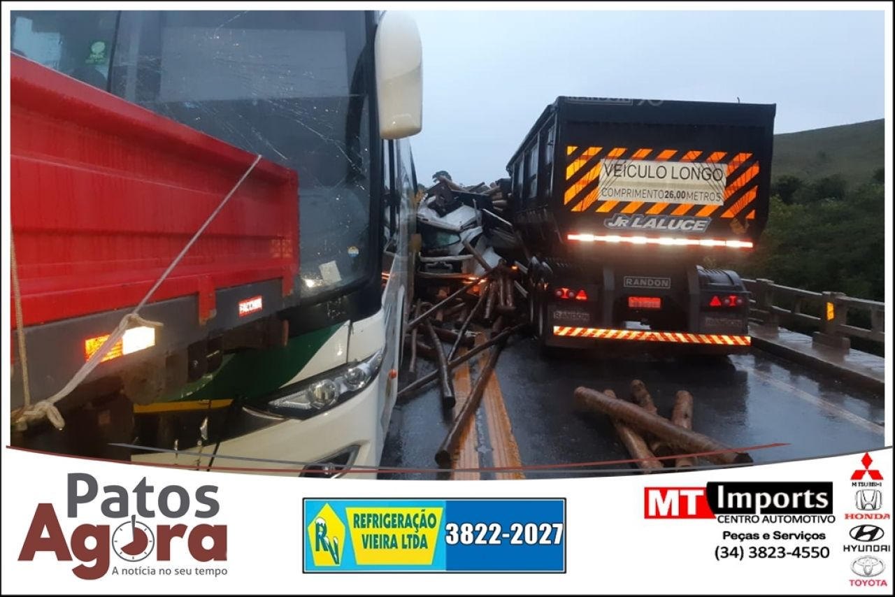 Engavetamento mata uma pessoa na BR-262 entre Campos Altos e Ibiá
